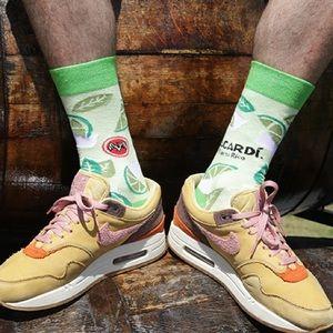 Bacardi Mojito Lime Crew Socks